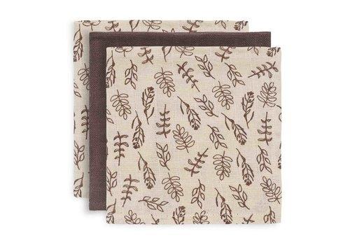 Jollein Jollein Monddoekje hydrofiel Meadow chestnut (3pack)
