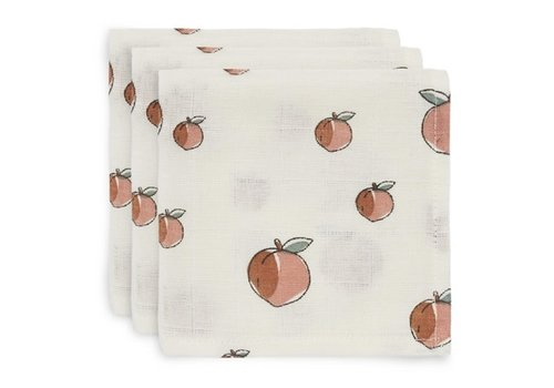 Jollein Jollein Monddoekje hydrofiel Peach (3pack)