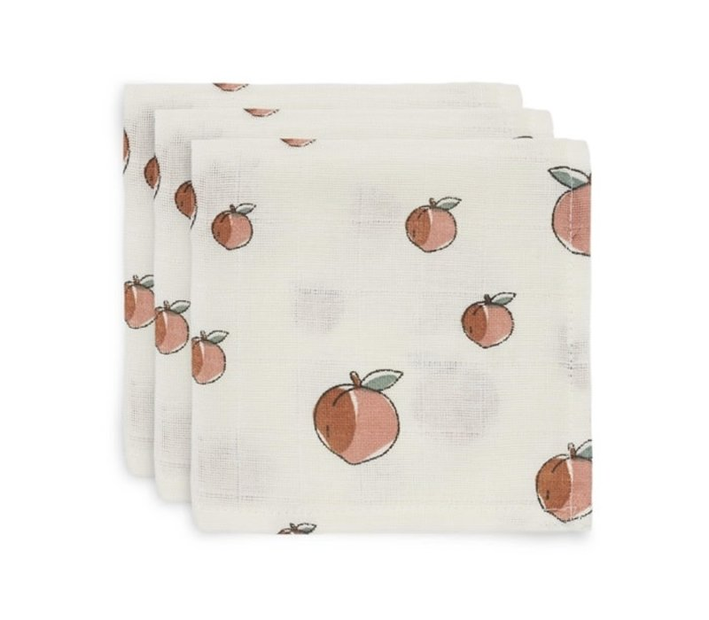 Jollein Monddoekje hydrofiel Peach (3pack)