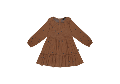 House of Jamie House of Jamie Collar Layer Dress Ginger Bread Dots