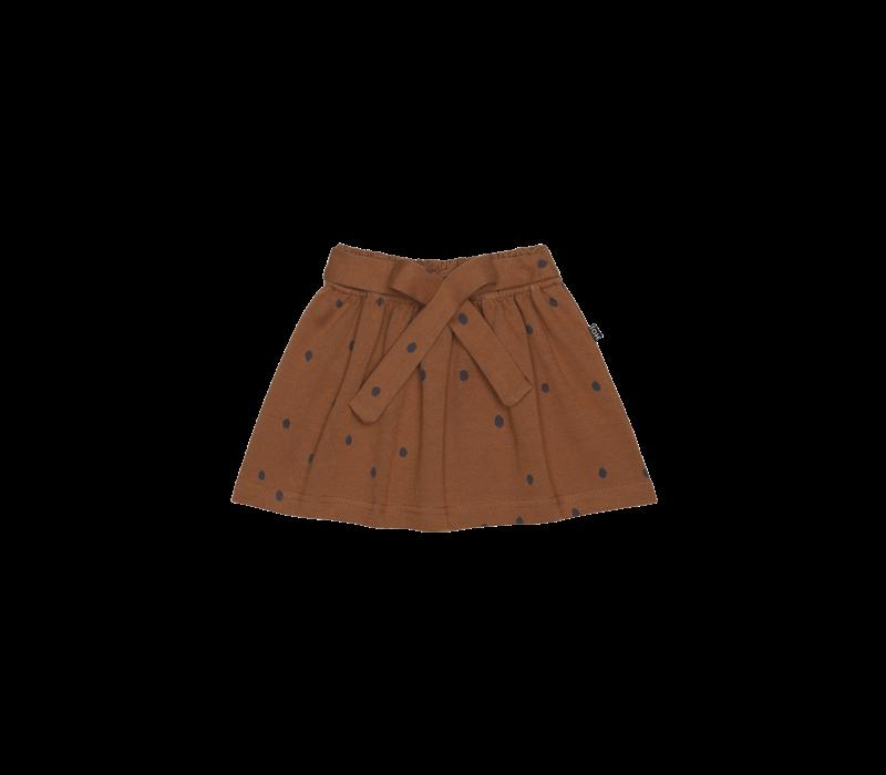 House of Jamie Mini Bow Skirt Ginger Bread Dots