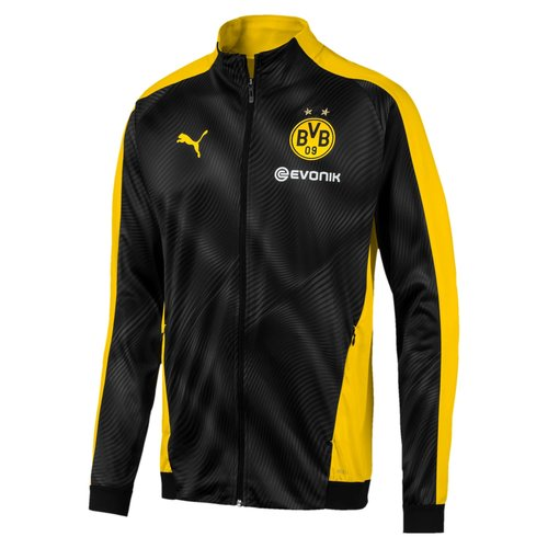 Puma BVB League Stadium Jkt Noir-jaune