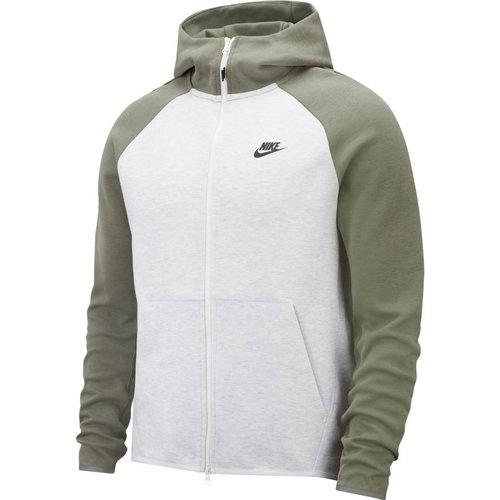 Nike Tech Fleece Hoodie kaki/white