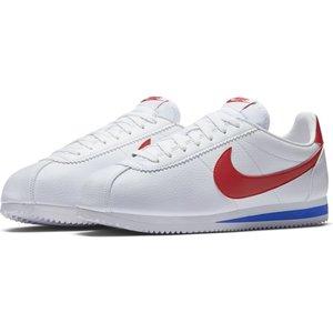 Nike Classic Cortez Leather Blanc-rouge-bleu