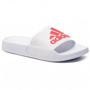 Adidas Adilette Blanc-rouge
