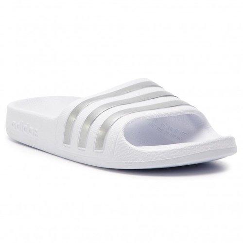 Adidas Adilette Blanc-argent