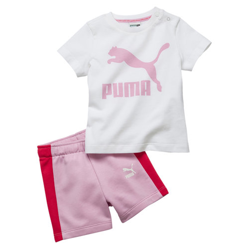 Puma Minicat Set Baby Blanc-rose