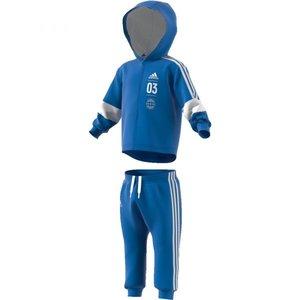 Adidas Logo Fullzip Hoodie Suit Blue