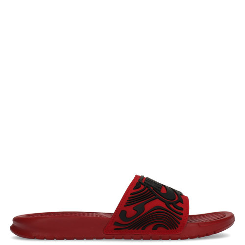 Nike Benassi Just Do It Rouge-print rouge