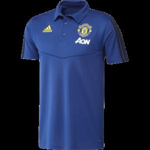 Adidas MUFC Polo Blue 19-20.