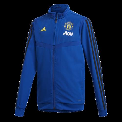 Adidas MUFC Pre Jkt JR Blue 19-20.