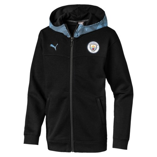 Puma MCFC Casuals Zip Hoody JR Black 19-20.
