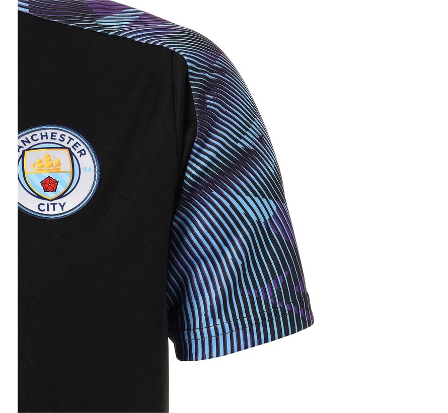MCFC Training Jersey Black-teamlight 19-20.