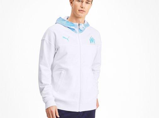 Puma OM Casuals Zip Hood Blanc-bleu 19-20.