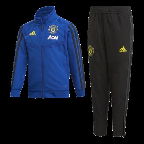 Adidas Mufc Pre Suit I Bleu-noir 19-20.