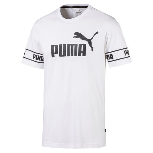 Puma Tee Big Logo Blanc