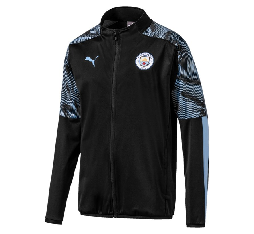 MCFC Woven Jacket Black 19-20.