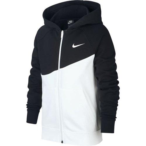 Nike Nsw Swoosh Hood Fz Jr Blanc