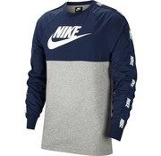 Nike Nsw Top Hybrid Sweat Grey