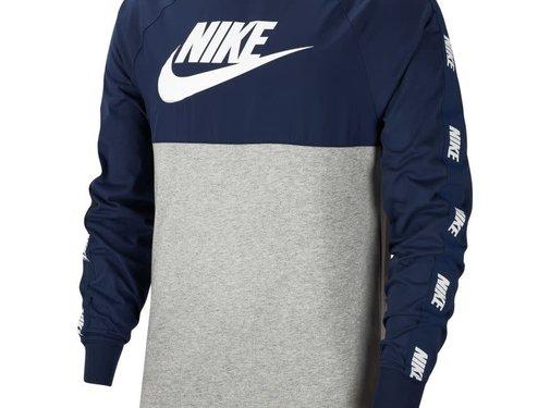 Nike Nsw Top Hybrid Sweat Grey