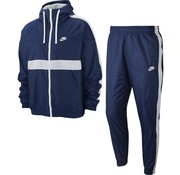 Nike Hooded Woven Tracksuit Navy/White