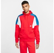 Nike Color-Block Hoodie Red