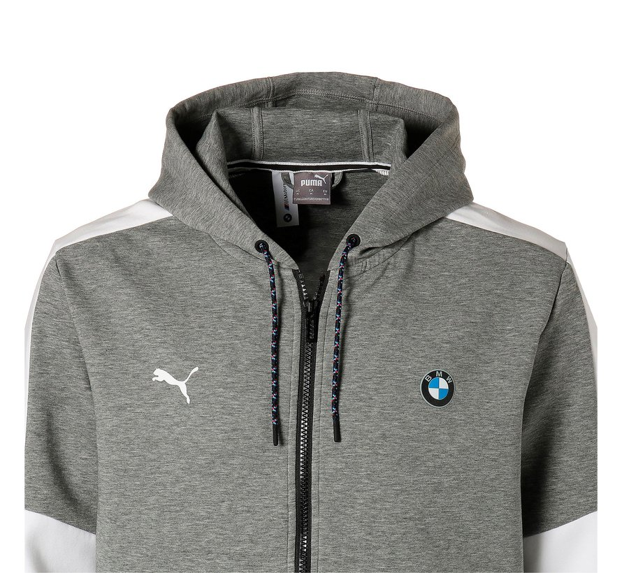 BMW Hooded Sweat Jacket Gray 20