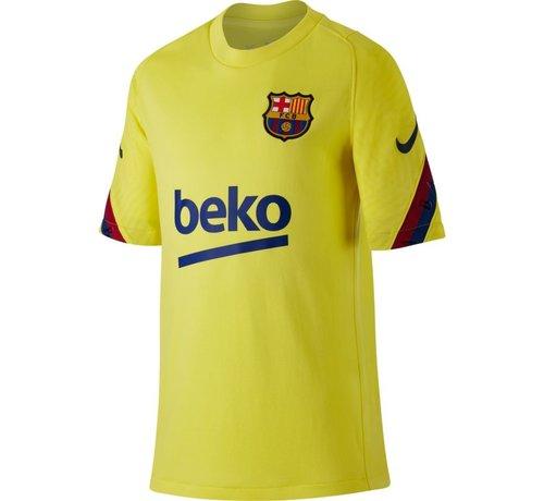 Nike Barcelona Training Shirt Yellow 19/20 Jr