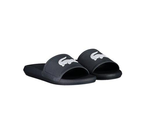 Lacoste Croco Slide Black/White 20