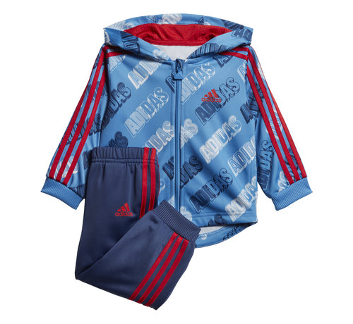 Adidas Shiny Blue Red Jogging 20