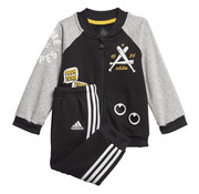 Adidas Collegiate Tracksuit Black/Grey 20