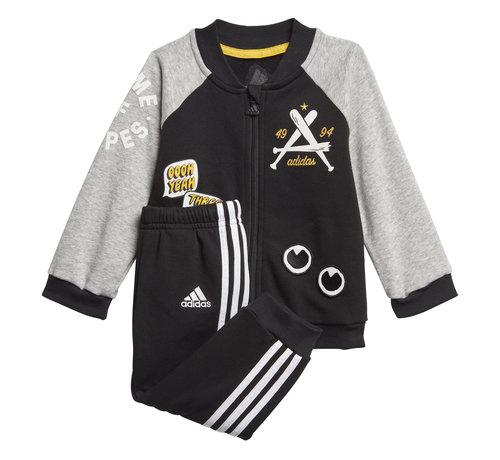 Adidas Collegiate Tracksuit Black/Grey 20
