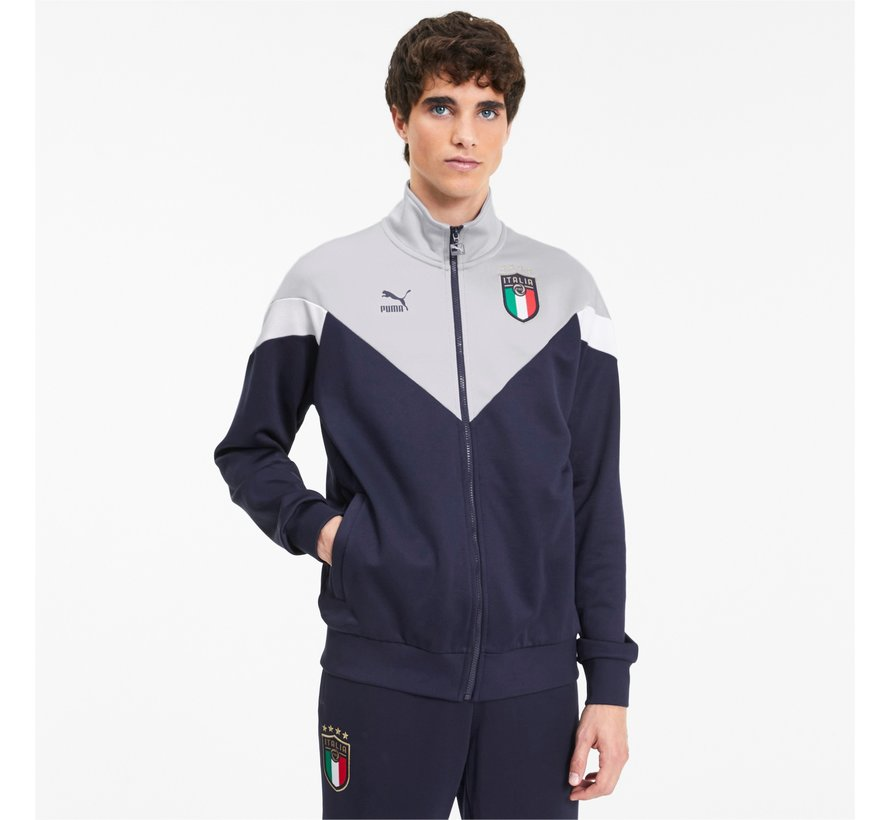 Italia Iconic Jacket Grey/Navy