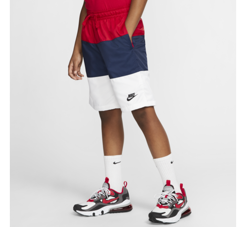 Nike JR Short Woven Block Red/Navy