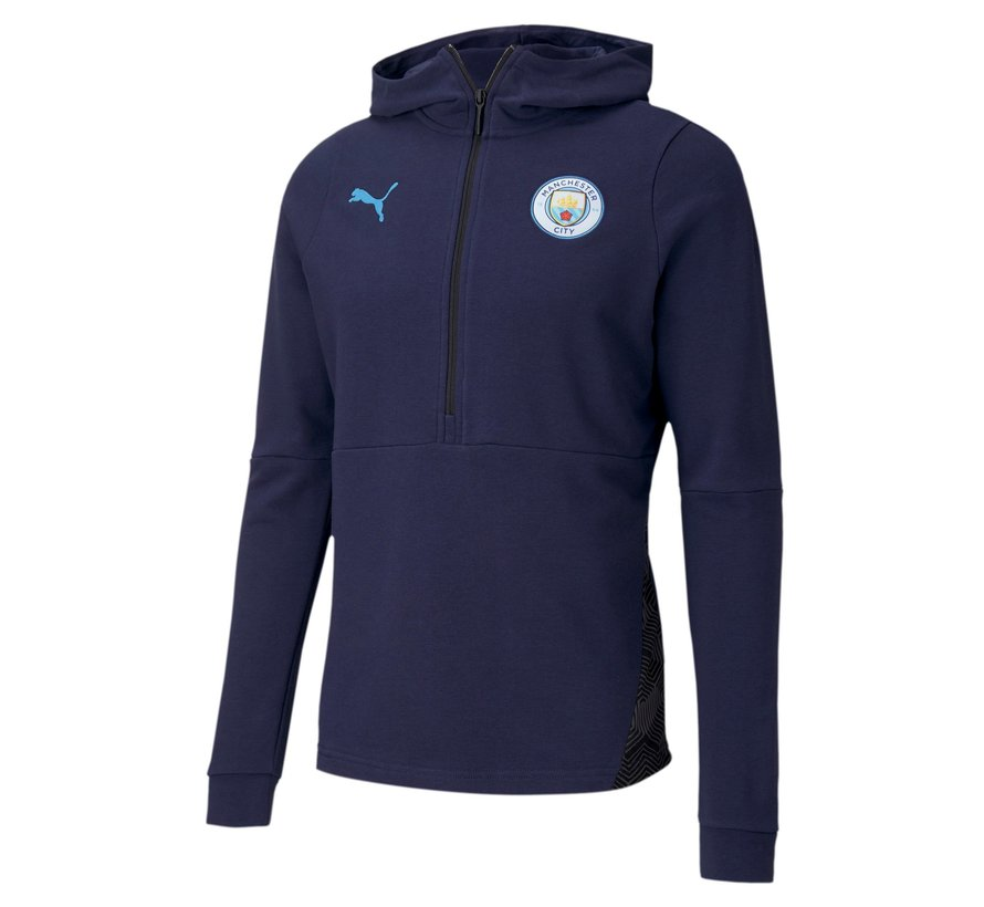 Manchester City Casual Hoody Navy 20/21