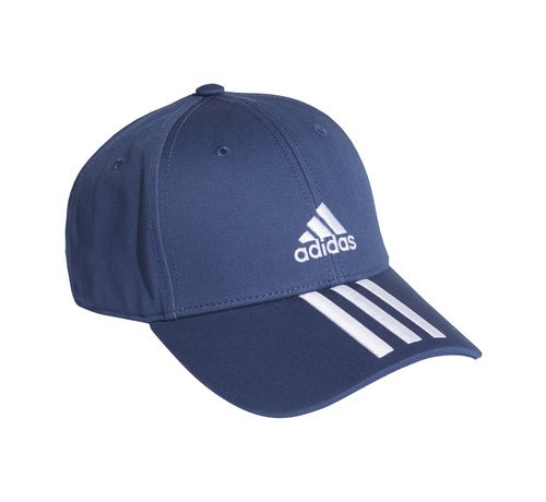 Adidas Bball 3 Stripes Cap Navy/White