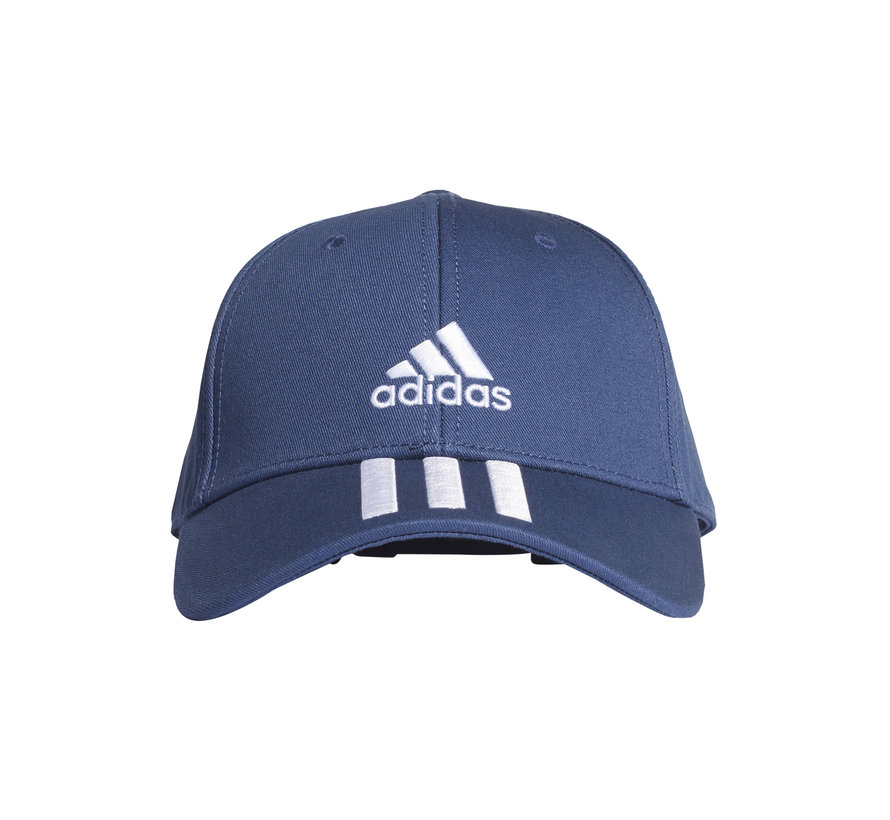Bball 3 Stripes Cap Navy/White
