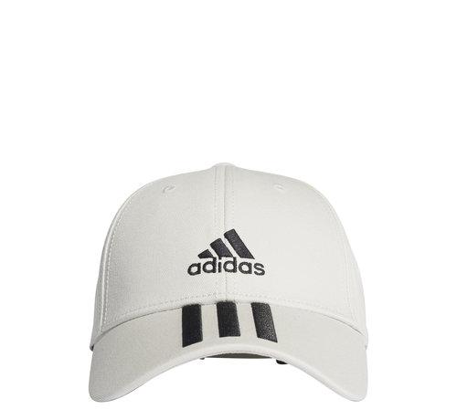 Adidas Bball 3 Stripes Cap White/Black