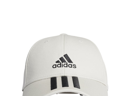 Adidas Bball 3 Stripes Cap White/Black