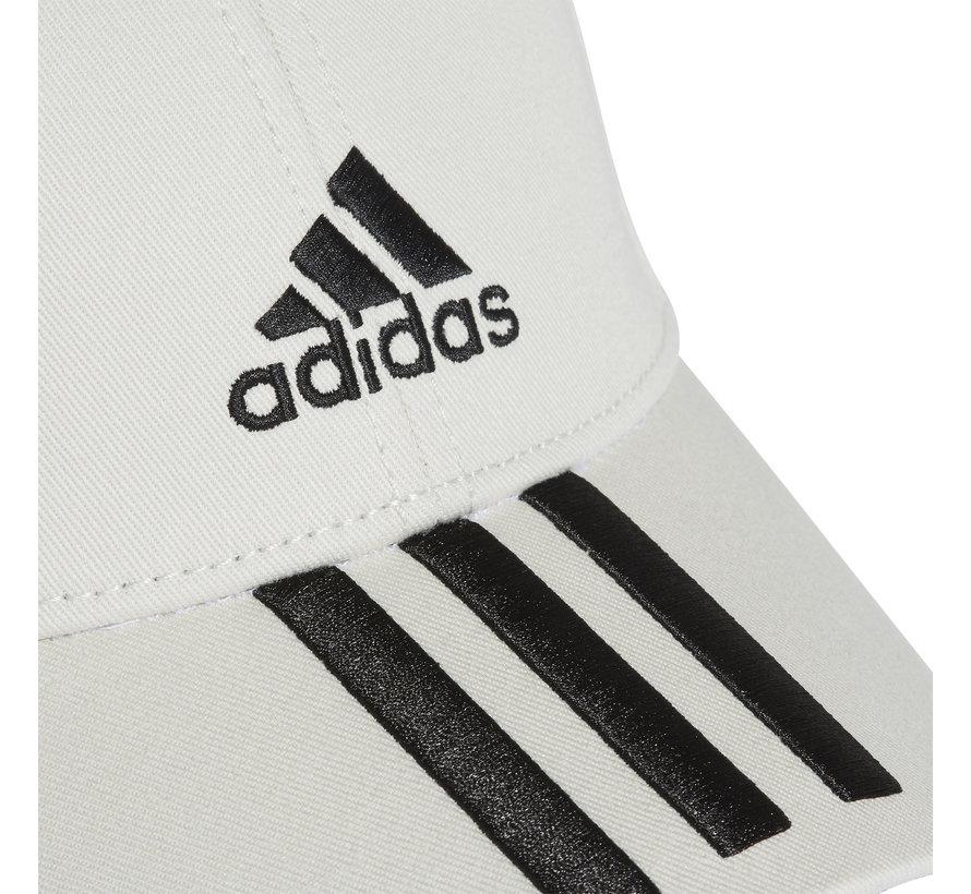 Bball 3 Stripes Cap White/Black