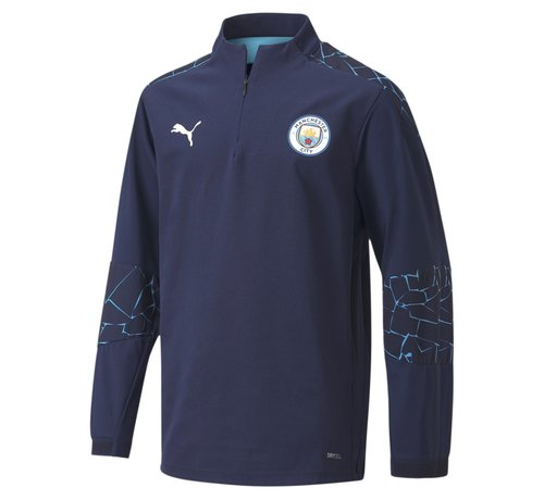 Puma Manchester City 1/4 ZipTop JR Peacoat 20/21