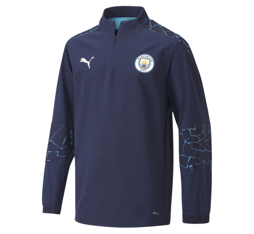 Manchester City 1/4 ZipTop JR Peacoat 20/21