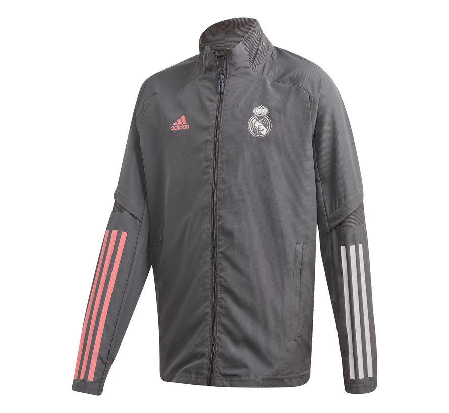 Real Madrid Pre Jacket Grey 20/21 Kids
