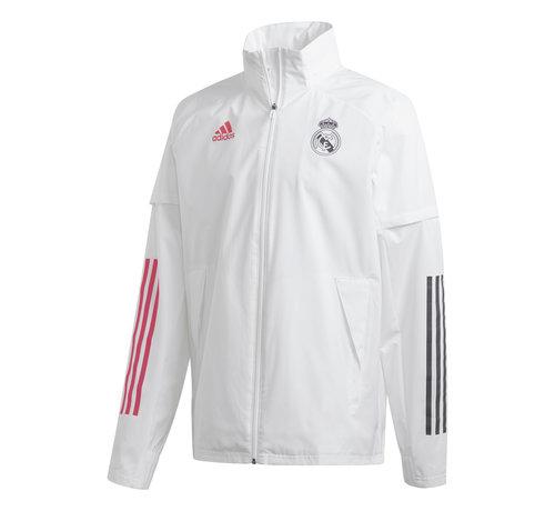 Adidas Real Madrid Allweather Jacket White 20/21