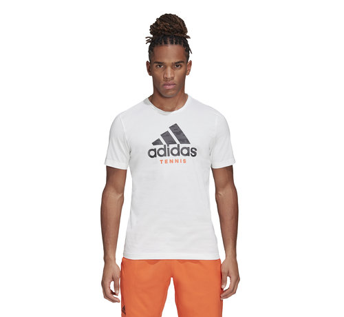 Adidas Categpry logo T-shirt White