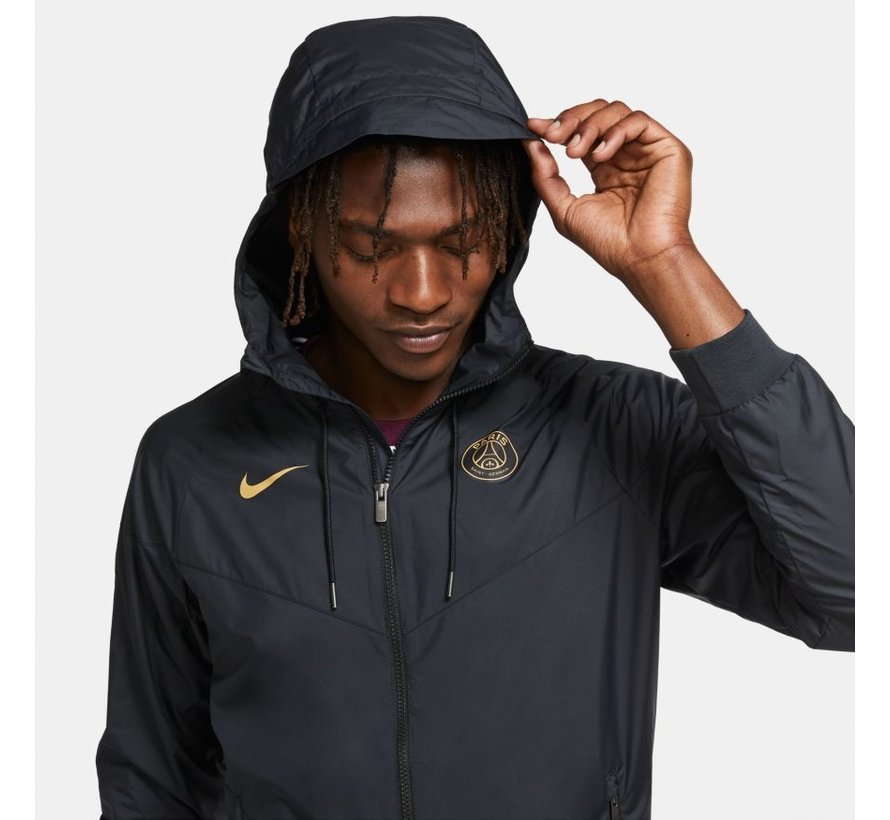 PSG Woven Windrunner Black/Gold 20/21