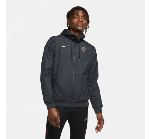 Nike PSG Woven Windrunner Black/Gold 20/21