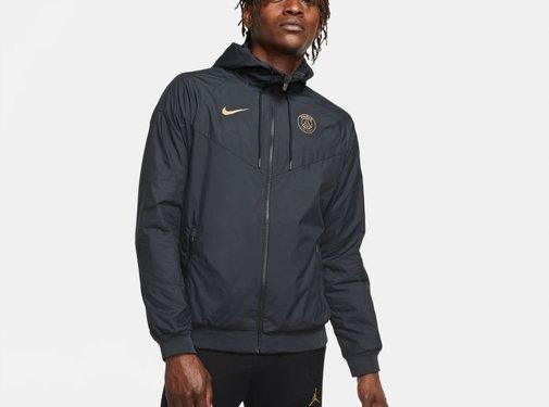 Nike PSG Woven Windrunner Black/Gold 20/21