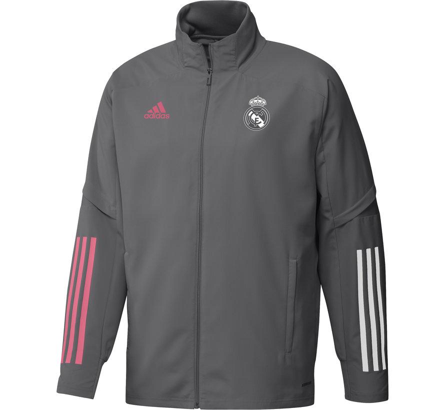 Real Madrid Pre Jacket Grey 20/21