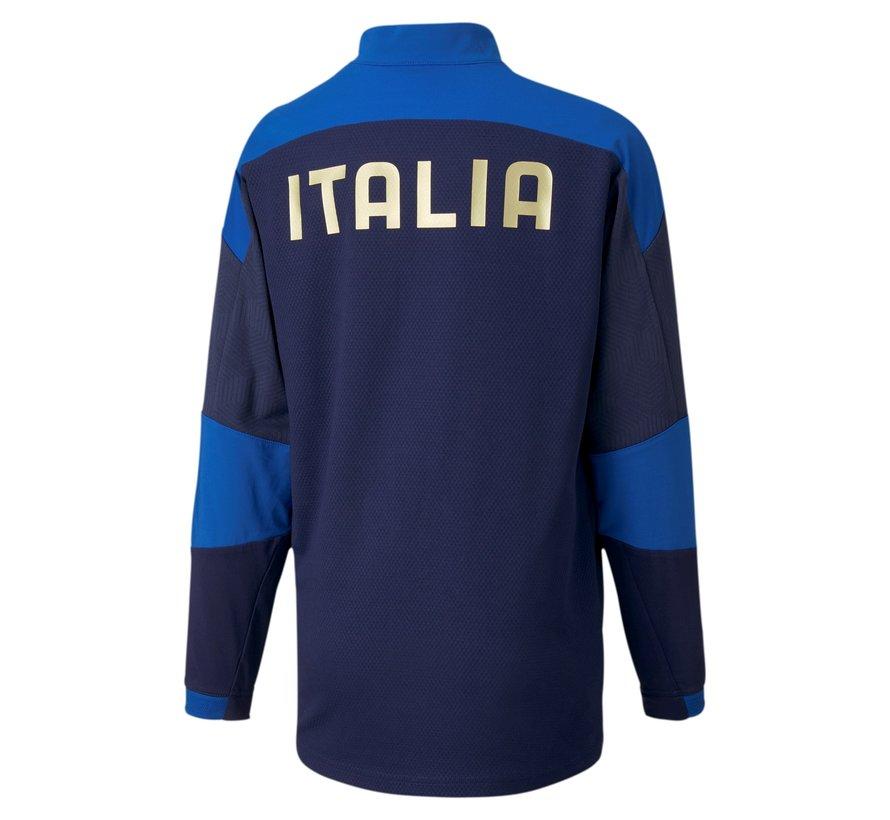 Italia 1/4 Zip Top Navy Euro21 Kids
